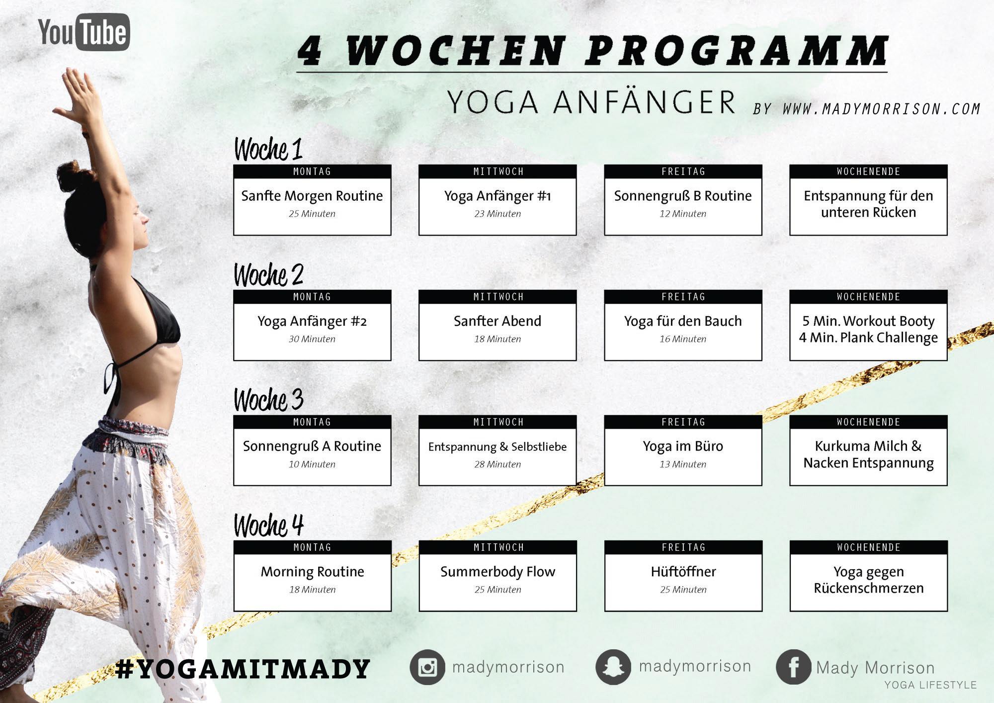 Ganz und zu Extrem 4 Wochen Yoga Programm | Für Anfänger & Geübte - Mady Morrison &OV_39